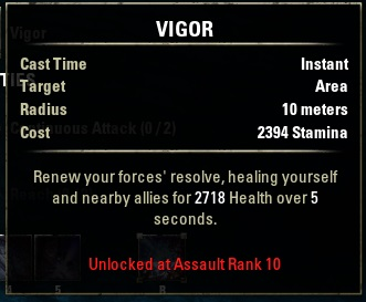 Alliance Rank skill Vigor