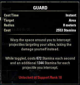 Alliance rank skill Guard