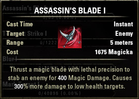 Assassins Blade I