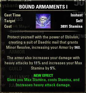 Bound Armor Armaments I