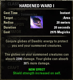 Conjured Hardened Ward I