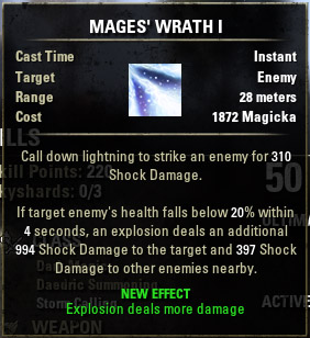 Mage's Fury Wrath I