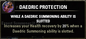 Passive 3 Daedric Protection