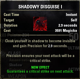 Shadow Cloak Shadowy Disguise  I