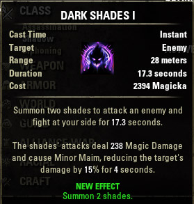 Summon Dark Shades I