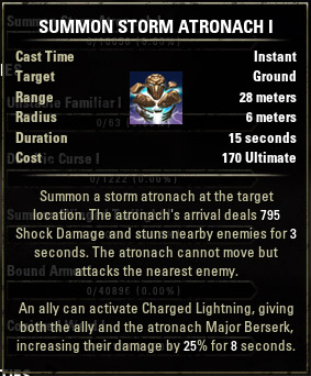 Summon Storm Atronach I