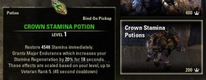 Crown Stamina Potions Consumables