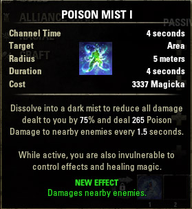 how to use poison eso