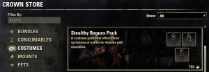 Stealthy Rogues Pack Costumes