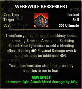 how to become a werewolf eso shrines