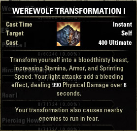 Werewolf Transformation