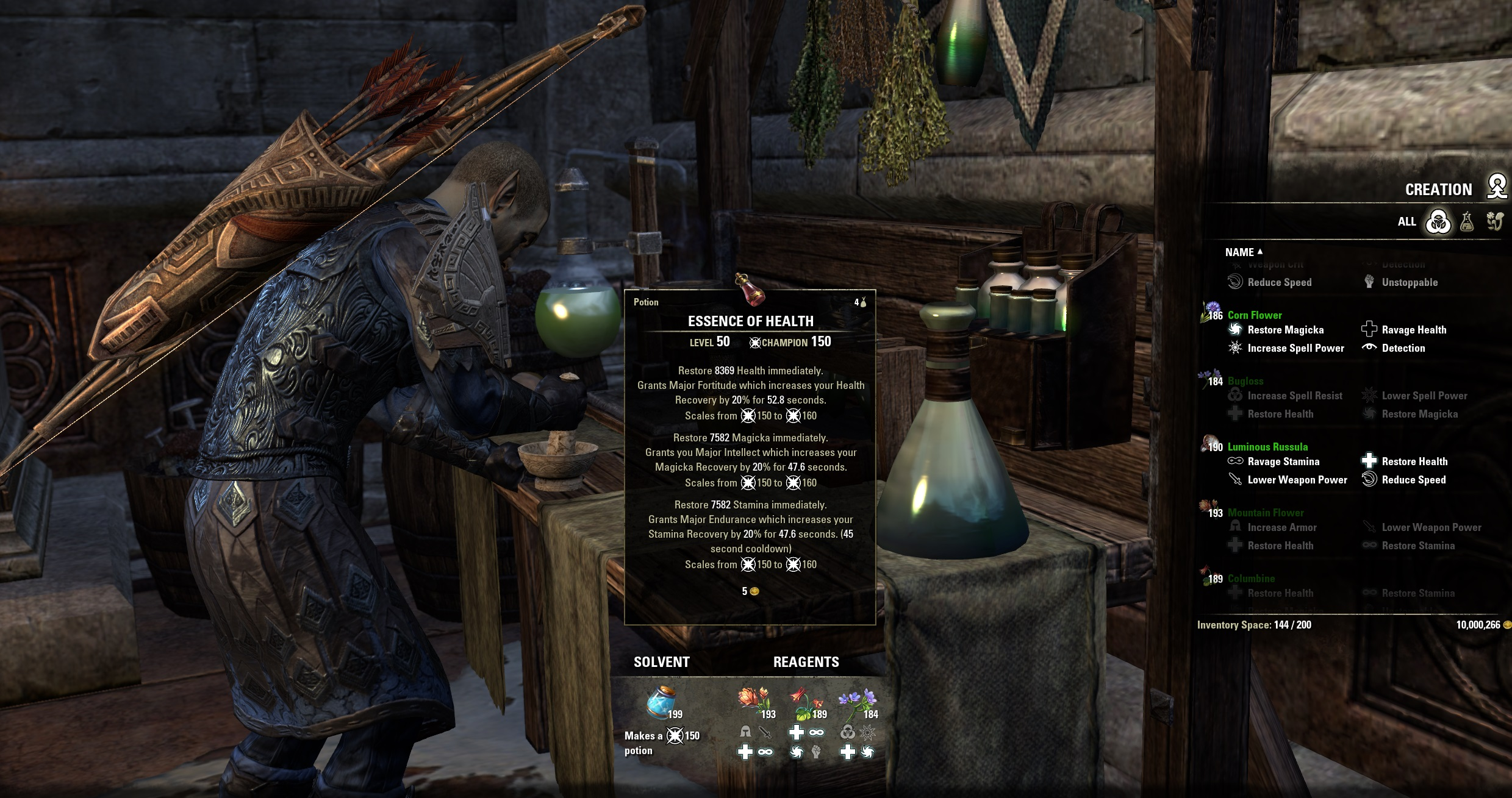 Crafting Potions Eso