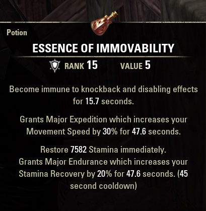 Immovability Potion