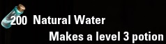 Natural Water ESO Alchemy Water Level 3