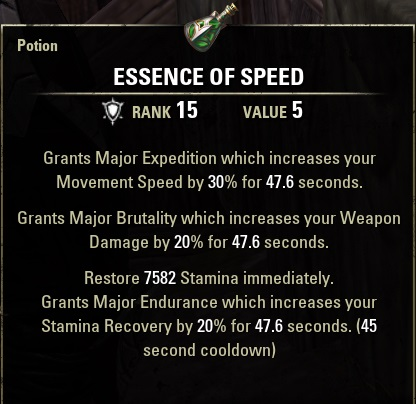 Speed Potions