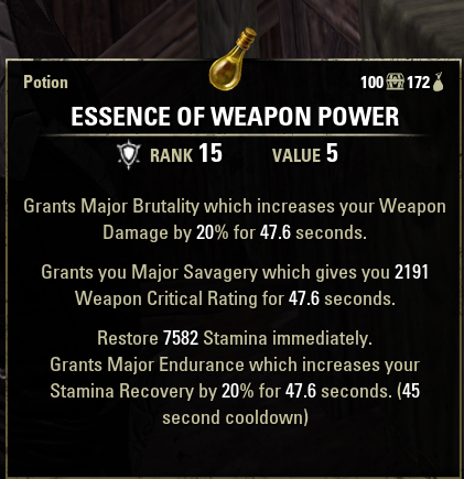 Weapon Power Potion