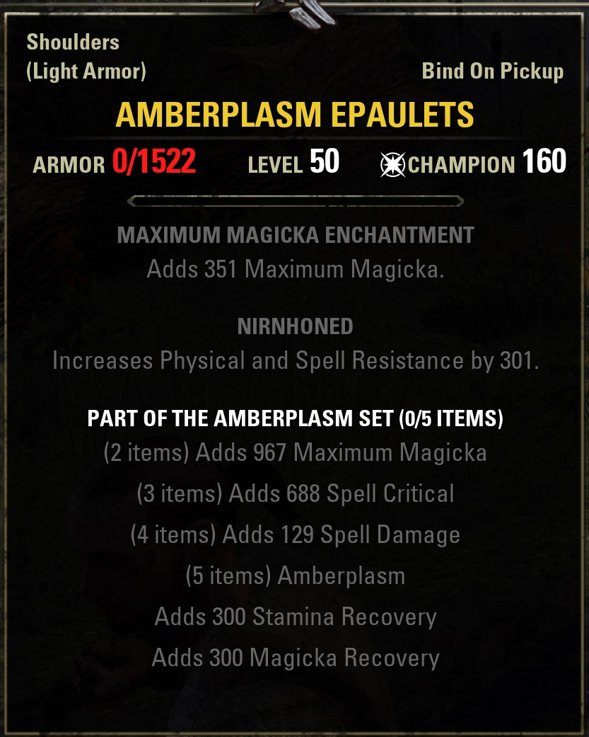 Eso Shadow Of Hist New Gear Sets Deltia S Gaming