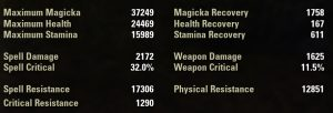 Unbuffed Sword and shield stats